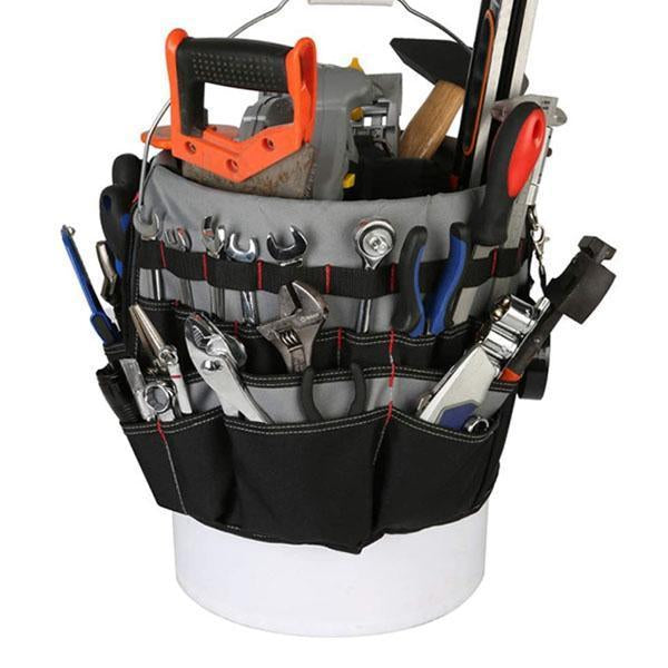 42 Pockets Bucket Tool Organizer
