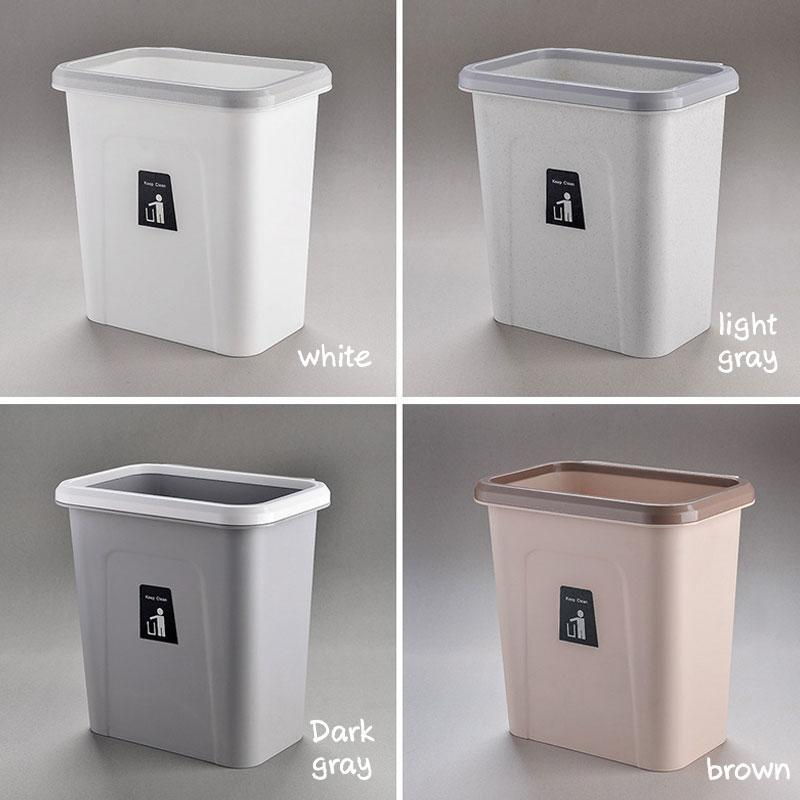 Convenient Push-top Trash Can