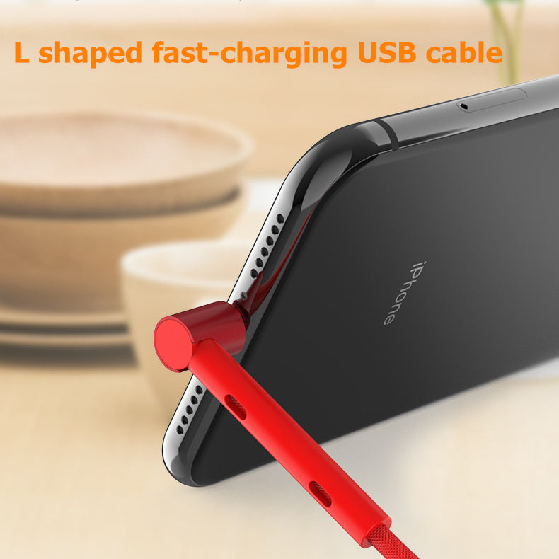 L Shaped Fast-Charging USB Cable