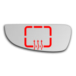 Mirror glass for Fiat Ducato Mk2 1993 - 2006