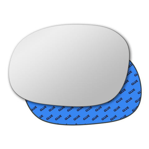 Mirror glass for Peugeot 206 1998 - 2010