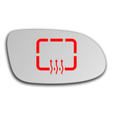 Mirror glass for Mercedes CLK Class 1997 - 2009