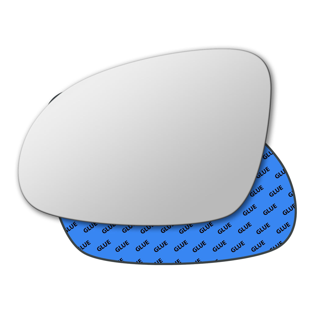Plaque Right Driver Side Wing Door Mirror Glass for VW Caddy 2004-2015