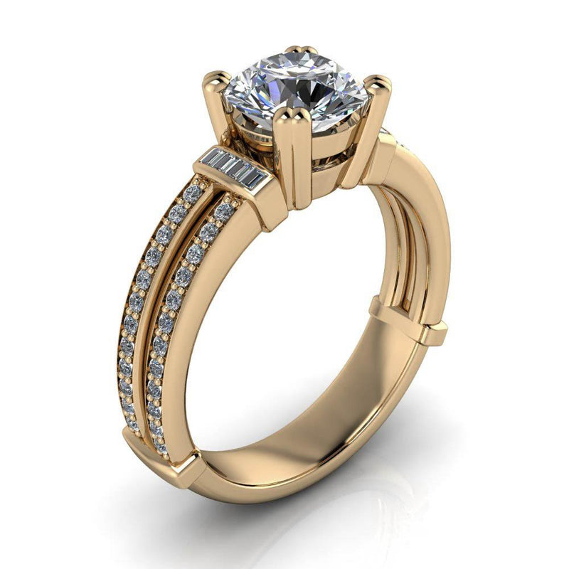 Unique Style Engagement Ring - Havana