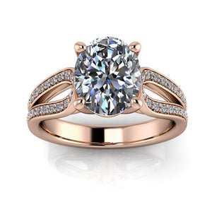 Oval Moissanite Engagement Ring Diamond Setting - Naomi - Moissanite Rings