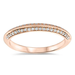 Knife Edge Wedding Band - Kourt Wedding Band - Moissanite Rings