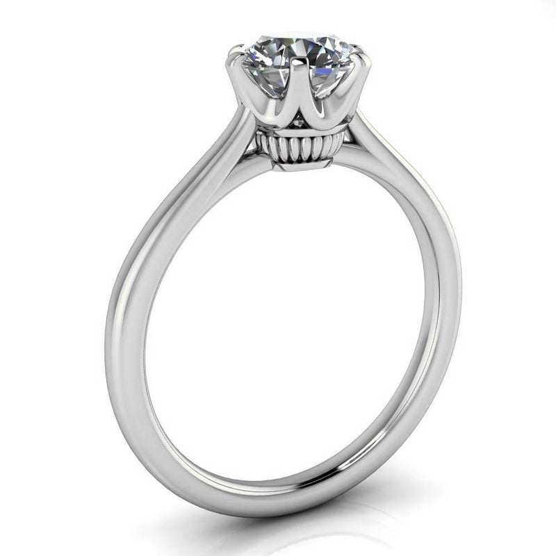 Unique Solitaire Engagement Ring Moissanite - Andi