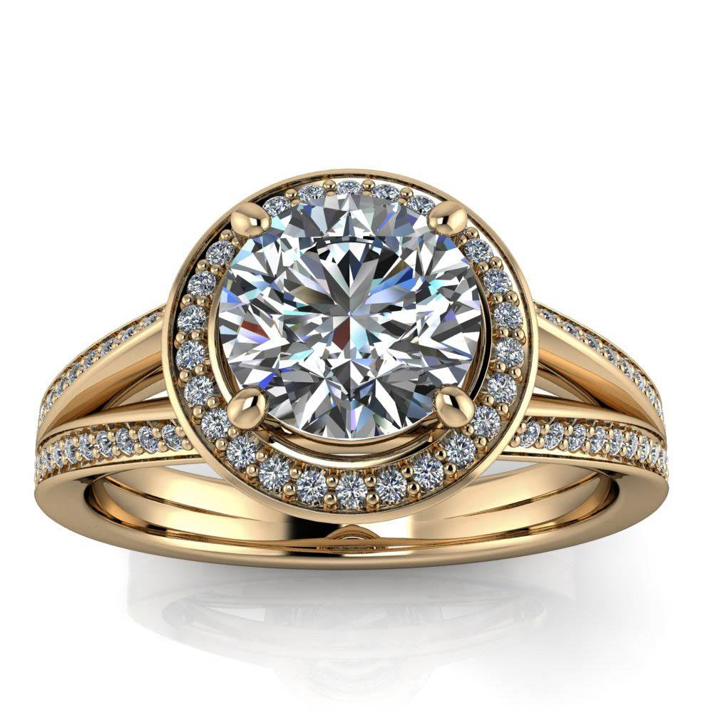 Split Shank Halo Ring - Oda