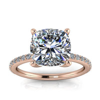 8mm Round Moissanite Engagement Ring - Emmet - Moissanite Rings
