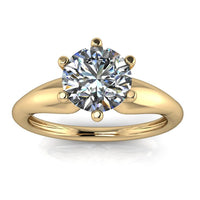 Six Prong Solitaire Moissanite Engagement Ring - Bernice