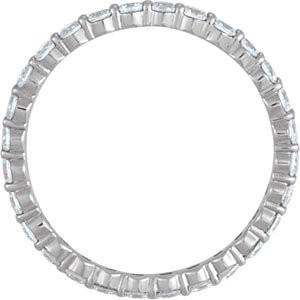 .84 Ct Diamond Eternity Band - Moissanite Rings