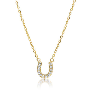 Diamond Horseshoe Neckklace