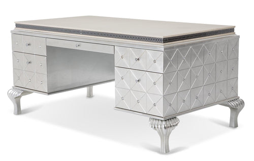 AICO Hollywood Swank Desk in Pearl Caviar 03207-11 image
