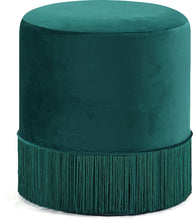 Load image into Gallery viewer, Teddy Green Velvet Ottoman/Stool