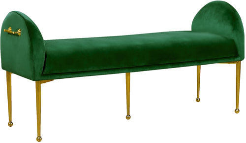 Owen Green Velvet Bench image