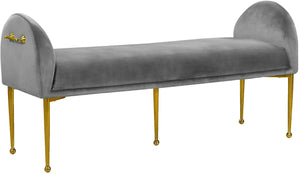 Owen Black Velvet Bench