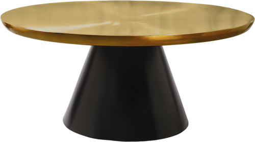 Martini Brushed Gold/Matte Black Coffee table