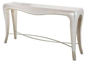 AICO Furniture London Place Console in Creamy Pearl image
