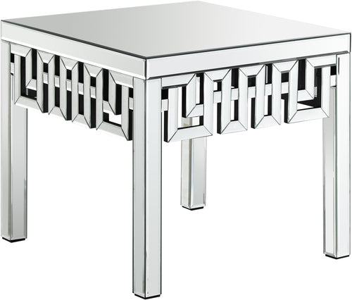 Aria Mirrored End Table
