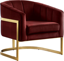 Load image into Gallery viewer, Carter Burgundy Velvet Accent Chair