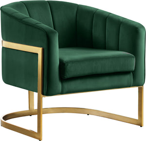 Carter Green Velvet Accent Chair
