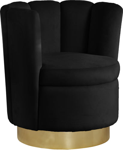 Lily Black Velvet Accent Chair image