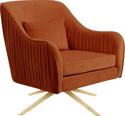 Paloma Cognac Velvet Accent Chair