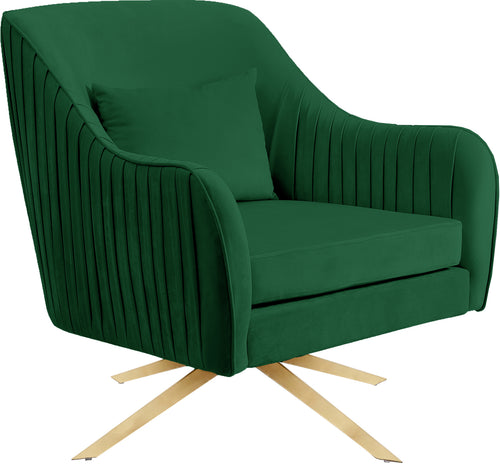 Paloma Green Velvet Accent Chair