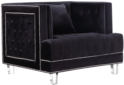 Lucas Black Velvet Chair image
