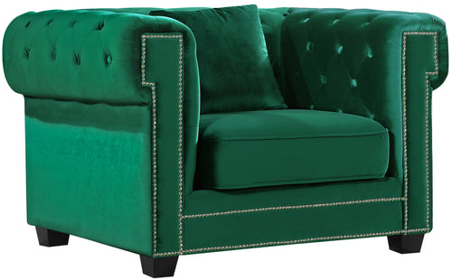 Bowery Green Velvet Chair