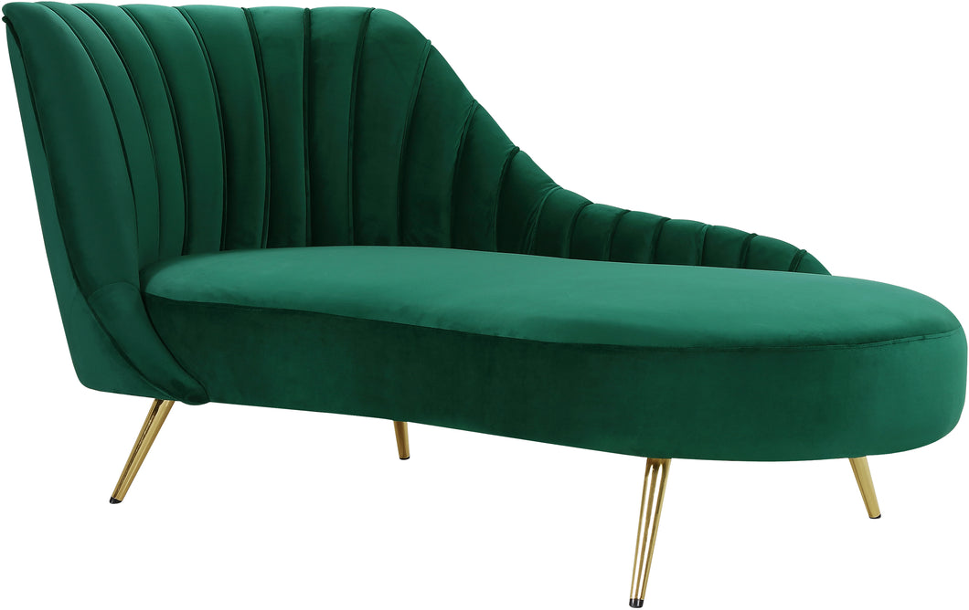 Margo Green Velvet Chaise