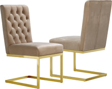 Load image into Gallery viewer, Cameron Beige Velvet Dining Chair