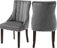 Load image into Gallery viewer, Oxford Black Velvet Dining Chair