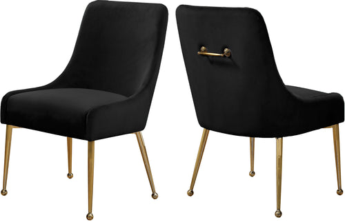 Owen Black Velvet Dining Chair image