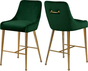 Owen Green Velvet Stool