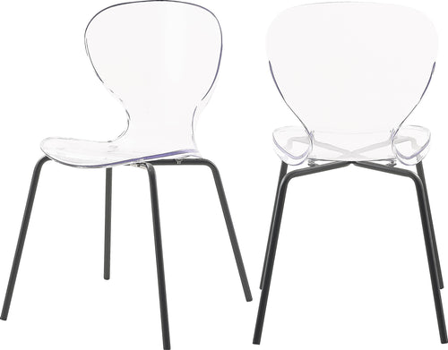 Clarion Matte Black Dining Chair