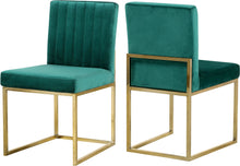 Load image into Gallery viewer, Giselle Green Velvet Dining Chair
