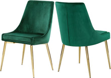 Load image into Gallery viewer, Karina Green Velvet Dining Chair