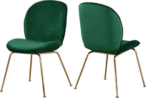 Paris Green Velvet Dining Chair