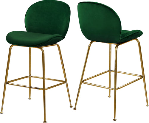 Paris Green Velvet Stool