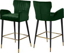 Load image into Gallery viewer, Luxe Green Velvet Stool