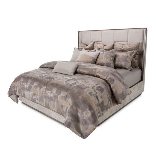 AICO Roxbury Park King Multi-Panel Bed in Slate 9006000EKM3-220 image