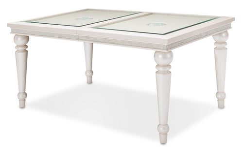 Aico Glimmering Heights Leg Dining Table in Ivory 9011000-111 image