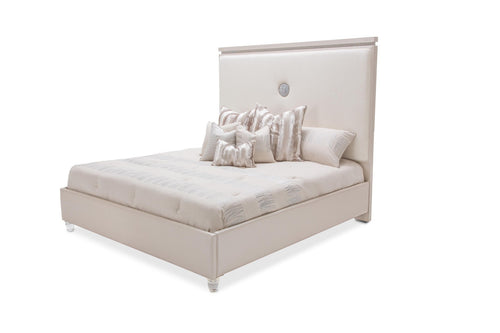 AICO Glimmering Heights King Upholstered Bed in Ivory 9011000EK-111 image
