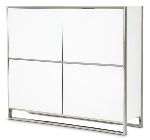Aico State St Accent Cabinet in Glossy White 9016009-116 image