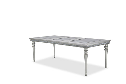 AICO Melrose Plaza Leg Dining Table in Dove 9019000-118 image