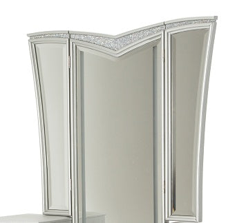 AICO Melrose Plaza Vanity Mirror in Dove 9019068-118 image