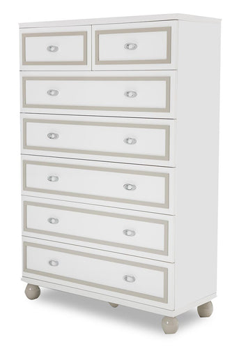 AICO Sky Tower 7 Drawer Chest in White Cloud 9025670-108 image