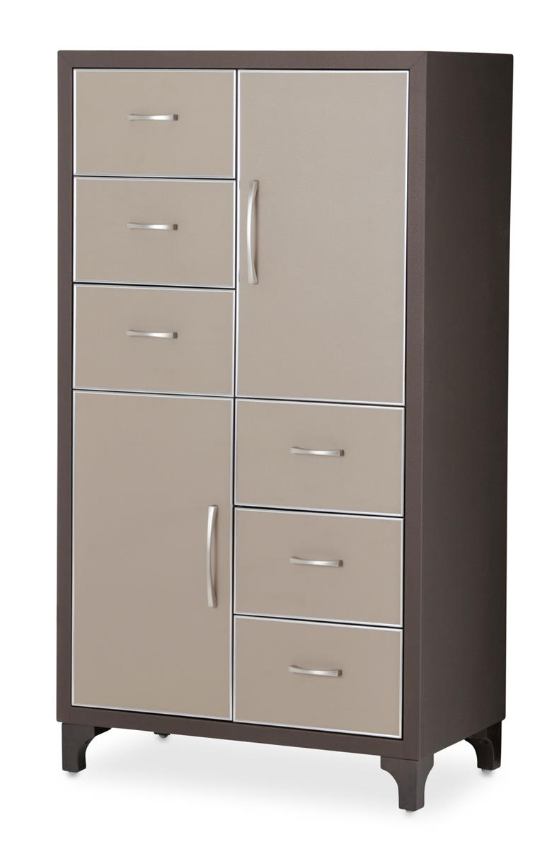 Aico 21 Cosmopolitan 6 Drawer Chest in Taupe/Umber 9029070-212 image