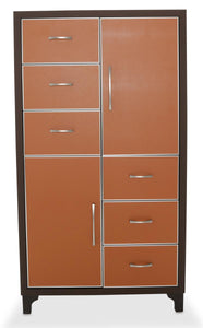 Aico 21 Cosmopolitan 6 Drawer Chest in Orange/Umber 9029070-812 image